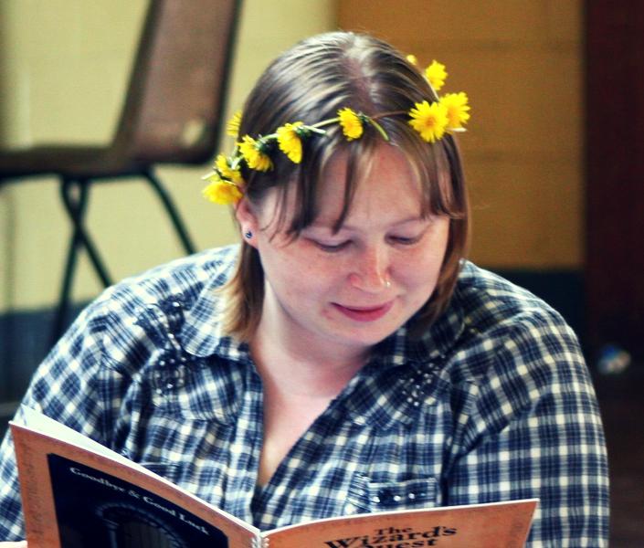 Liz reading